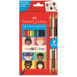 Faber Castell World Colors EcoPencil Colored Pencil Set - Set of 15