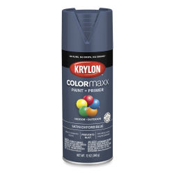Krylon Colormaxx Spray Paint - Oxford Blue, Satin, 12 oz