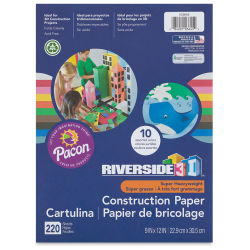 Pacon Riverside 3D Construction Paper - 9'' x 12'', Assorted, Pkg of 220 Sheets