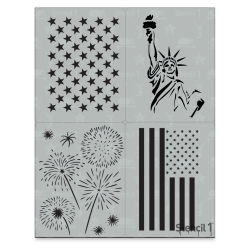 Stencil1 Multipack Stencil - Fourth of July, Set of 4