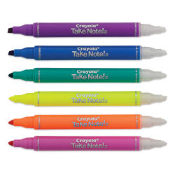 Crayola Take Note Erasable Highlighter Set (with caps off)
