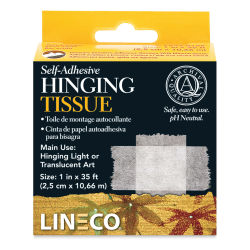 "Lineco Self-Adhesive Hinging Tissue - 1"" W x 35 ft L (In packaging)"