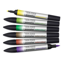 Winsor & Newton Promarker Watercolor Markers - Foliage Colors, Set of 6