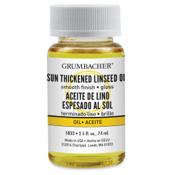 Grumbacher Sun-Thickened Linseed Oil - 2.5 oz bottle