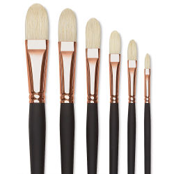 Blick Masterstroke Interlocking Bristle Brushes - Filberts, Set of 6