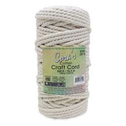 Pepperell Cotton Macramé Cord - Natural, 6 mm, 250 ft