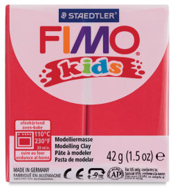 Staedtler Fimo Kids Polymer Clay - Red, 1.5 oz