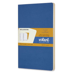 Moleskine Volant Notebooks - 8-1/4'' x 5'', Forget-Me-Not Blue and Yelklow, Blank, Pkg of 2
