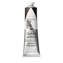 Holbein Heavy Body Artist Acrylics - Zinc White, 60 ml tube