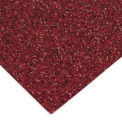 Paper Accents Glitter Cardstock - Red, 8-1/2'' x 11'', Pkg of 5 Sheets