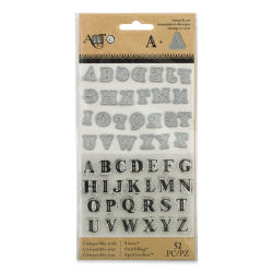 Momenta Die and Stamp Combo Sets - Uppercase Alphabet