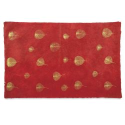 Black Ink Nepalese Gold Bodhi Paper - Red/Gold, 20'' x 30''