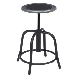 National Public Seating Designer Swivel Stool - Black Frame/Black Seat
