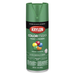 Krylon Colormaxx Spray Paint - Emerald Green, Gloss, 12 oz