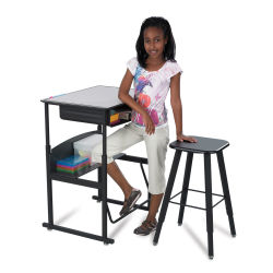 Safco AlphaBetter Stand-Up Desk - Premium Top with Book Box