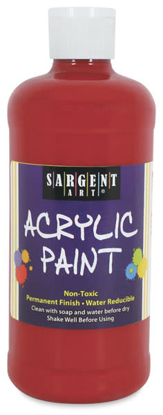 Sargent Art Acrylics - Spectral Red, 16 oz Bottle