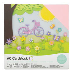 AC Cardstock Papers - 12'' x 12'', Spring, 60 Sheets