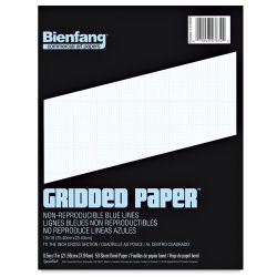 Bienfang Cross-Section Graph Paper - 8-1/2'' x 11'', 10 x 10 Grid, 50 Sheets