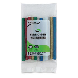 Surebonder Mini Glue Sticks - Assorted Glitter, Pkg of 12, 5/16'' x 4''