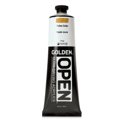 Golden Open Acrylics - Yellow Oxide, 5 oz Tube