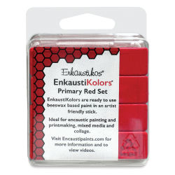 Enkaustikos EnkaustiKolor Paint Sets - Primary Red Set