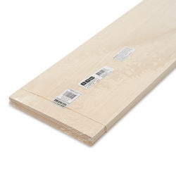 "Bud Nosen Basswood Sheets - 1/16"" x 8"" x 24"", 10 Sheets"