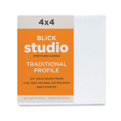 "Blick Studio Stretched Cotton Canvas - 4"" x 4"", Traditional 3/4"" Profile"