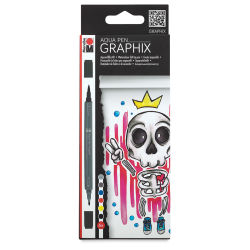 Marabu Graphix Aqua Pen - King of Bubblegum, Set of 6