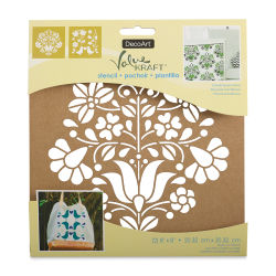 DecoArt Value Kraft Stencils - Scandinavian Floral