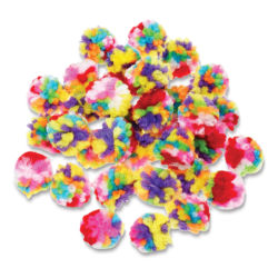 "Krafty Kids Yarn Pom Poms - Multicolor, 1"", Package of 40"