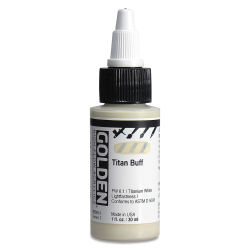 Golden High Flow Acrylics - Titan Buff, 1 oz oz bottle