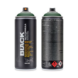 Montana Black Spray Paint - TAG-Green, 400 ml can