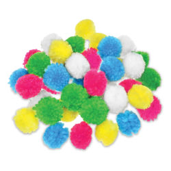 "Krafty Kids Yarn Pom Poms - Pastel, 1"", Package of 40"