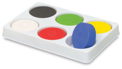 Blick Tempera Cakes - Cakes in Plastic Palette, Set of 6 cakes