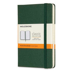 "Moleskine Classic Hardcover Notebook - Metallic Green, Ruled, 5-1/2"" x 3-1/2"""