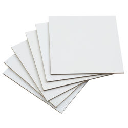 "Richeson Premium Gessoed Hardboard - Flat Panel, White, 6'' x 6'', 1/8"", Pkg of 6"