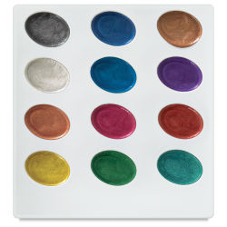 Kuretake Zig Watercolor Set - Pearlescent, Set of 12