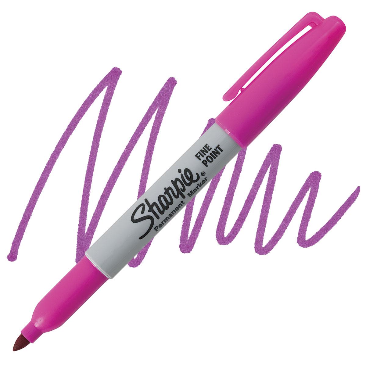 Sharpie Fine Point Permanent Marker Open Stock Magenta 071641320819 for sale online