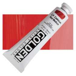 Golden Heavy Body Artist Acrylics - Cadmium Red Medium, 2 oz Tube