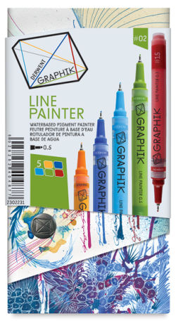 Derwent Graphik Line Painters - Set 2, Pkg of 5