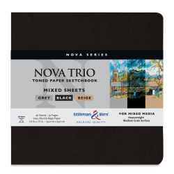 Stillman & Birn Nova Trio Mixed Media Sketchbook -7-1/2'' x 7-1/2'', includes all three colors