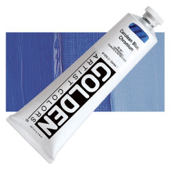 Golden Heavy Body Artist Acrylics - Cerulean Blue Chromium, 5 oz Tube