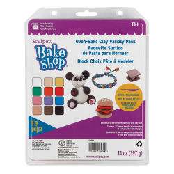 Sculpey Bake Shop Oven-Bake Clay Variety Pack - Pkg of 12