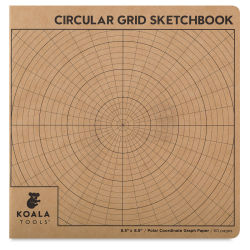 Koala Sketchbook - Circular Grid Sketchbook, 8.5'' x 8.5''