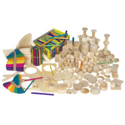 Wood Sticks and Shapes Kit
