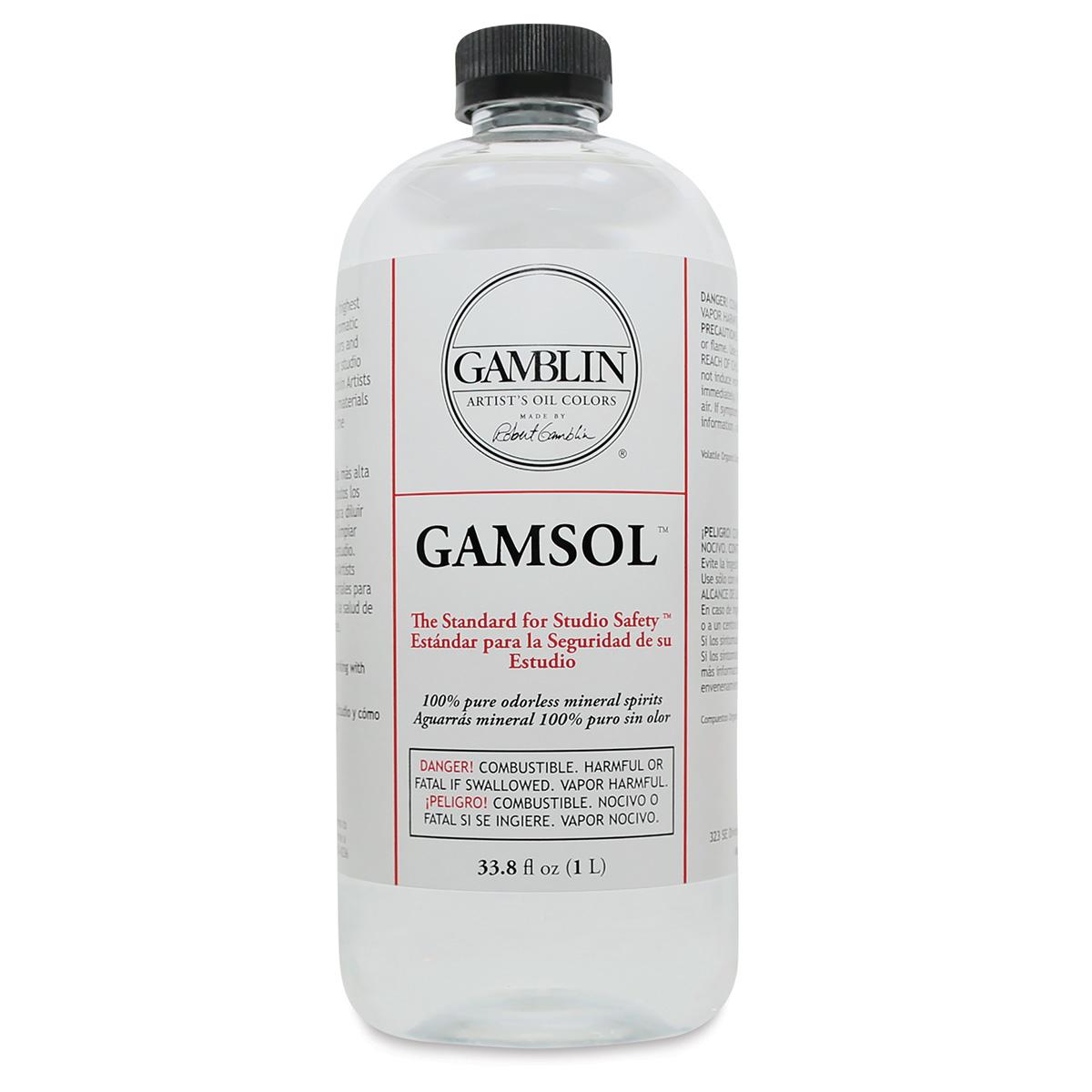 Gamblin Gamsol Odorless Mineral Spirits - 33.8 oz