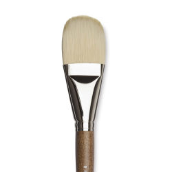 Winsor & Newton Artists' Oil Synthetic Hog Brush - Filbert, Size 20, Long Handle (close-up)
