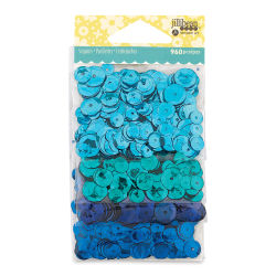 Hampton Art Sequins Packs - Blues, 4 Pack