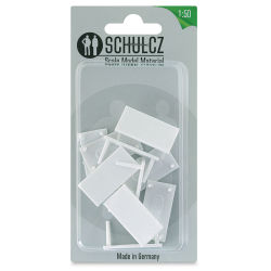 "Schulcz Scale Model Furniture - Rectangular Tables, Pkg of 10, 1:50, 1/4"" (front of package)"