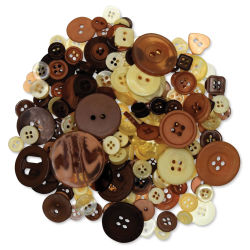 Forever in Time Fashion Dyed Buttons - Earth, 2 oz